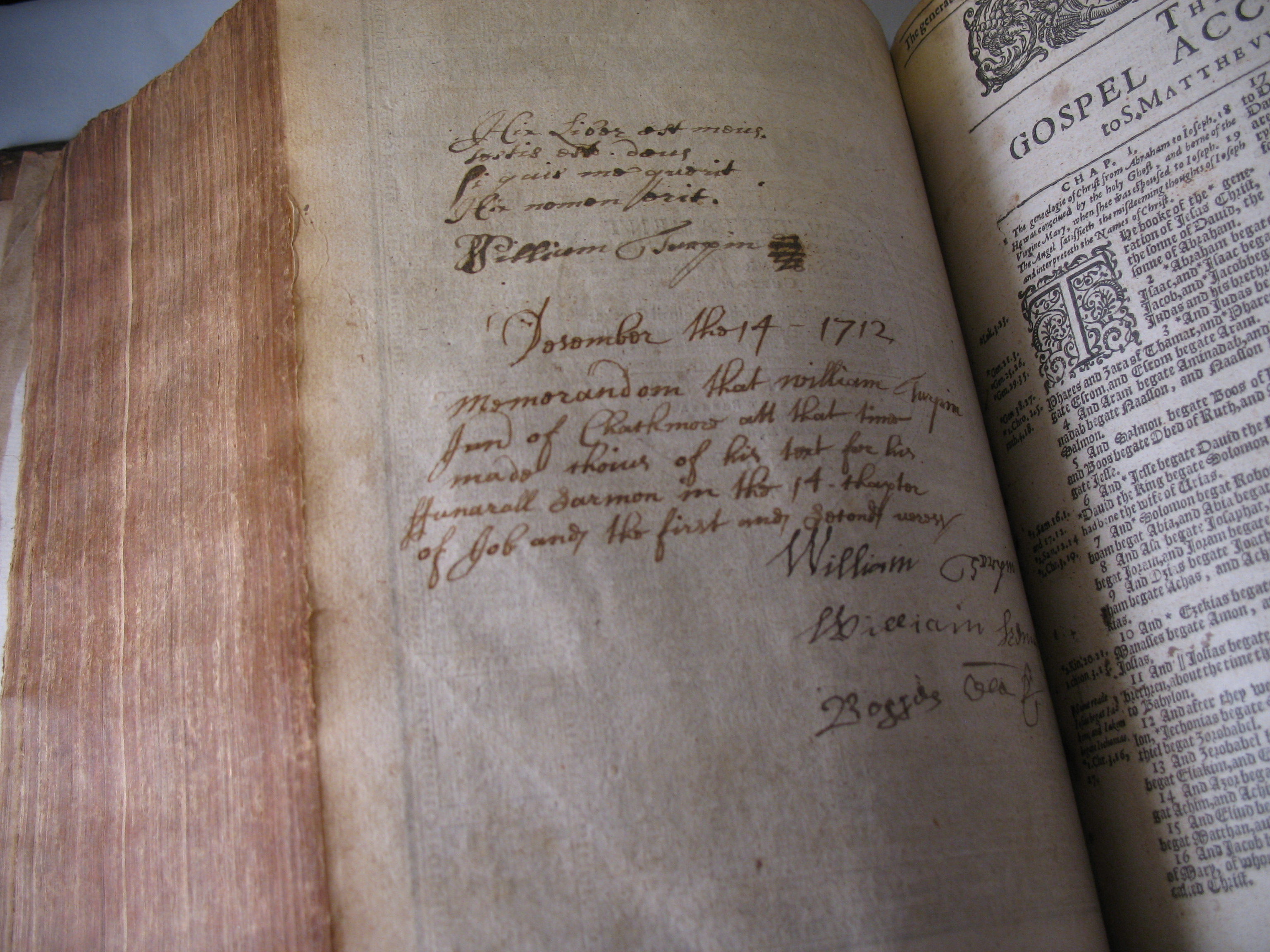 Early 17th century book fittings