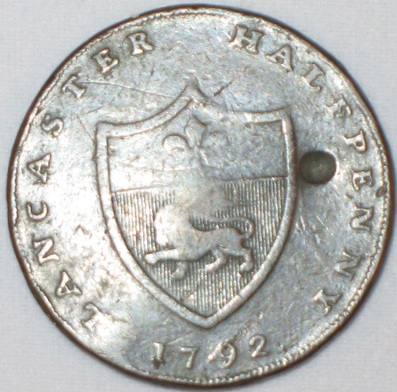 Iohn of Gaunt, Duke of Lancaster, Halfpenny token, 1792