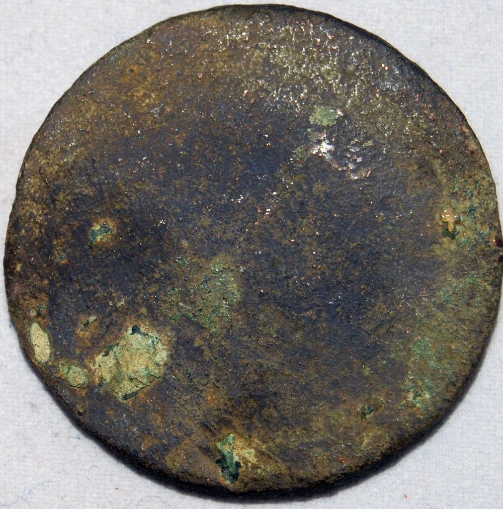 Cartwheel penny found with a metal detector