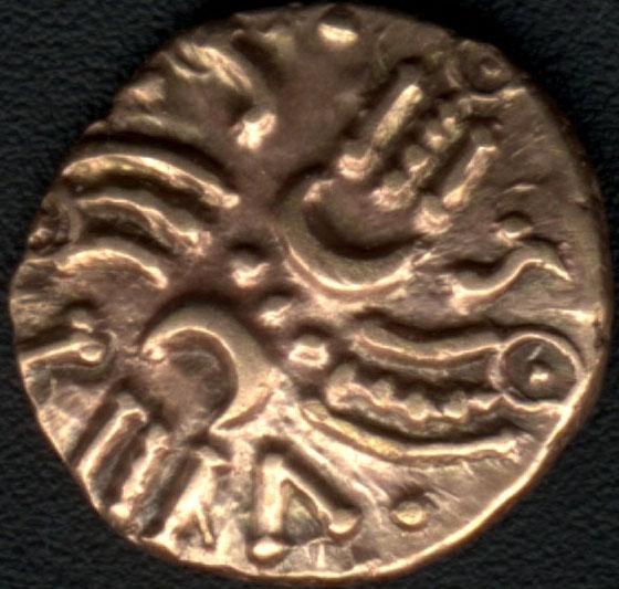 Celtic gold quarter stater of Tasciovanus