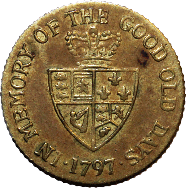 "George III ""In Memory of the Good Old Days"" Gaming Token"