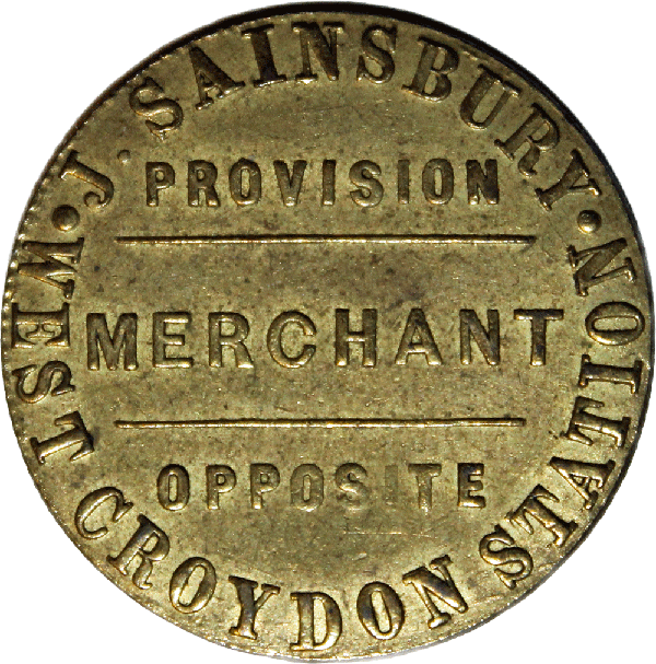 J. Sainsbury West Croydon Station George III Token