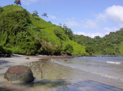 Chatham Beach, Cocos Island treasure hunt