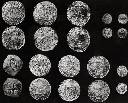 Coins from the Hollandia Wreck Treasure