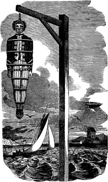 Captain William Kidd after being executed in 1701.