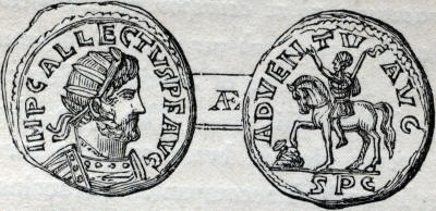 coin of allectus, adventus reverse