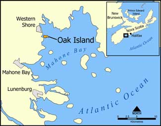 Map of Oak Island - The Money Pit Mystery