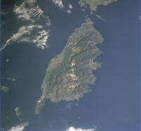 Rommel's Gold - Island of Corsica as photographed by STS-84